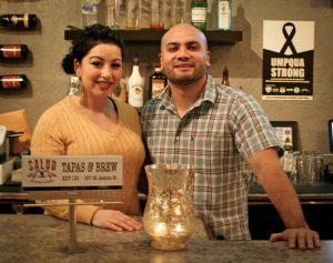 Olivia and Manny Anaya at Salud
